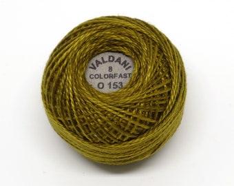 Valdani Pearl Cotton Thread Size 12 Variegated: #O153 Golden Moss