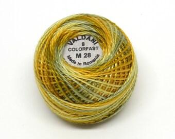 Valdani Pearl Cotton Thread Size 12 Variegated: #M28 Harvest