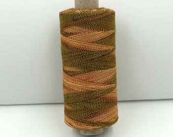 Valdani Unique Twist Overdyed Cotton-Polyester 40wt Thread: #T51 Leaf Dew