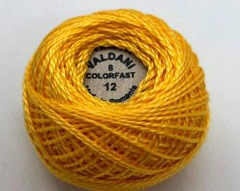 Valdani Pearl Cotton Thread Size 8 Solid: #12 Gold Splendour
