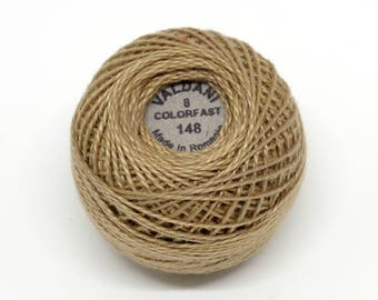 Valdani Pearl Cotton Thread Size 8 Solid: #148 Luminous Beige Medium