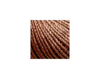 Lizbeth Thread Size 80 Solid: #691 Mocha Brown Medium