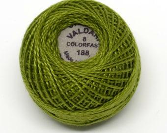 Valdani Pearl Cotton Thread Size 8 Solid: #188 Soft Olive Green