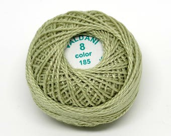 Valdani Pearl Cotton Thread Size 8 Solid: #185 Gray Juniper Very Light