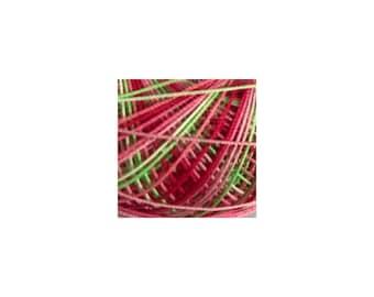 Lizbeth Thread Size 20 Variegated: #156 Juicy Watermelon