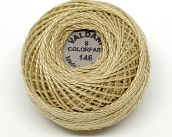 Valdani Pearl Cotton Thread Size 8 Solid: #146 Luminous Light Beige