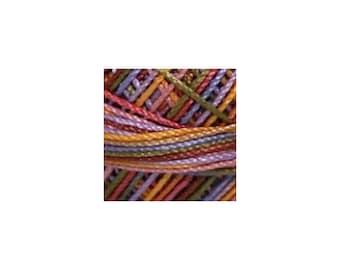 Lizbeth Thread Size 40 Variegated: #154 Wildflower Garden