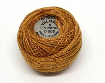 Valdani Pearl Cotton Thread Size 12 Variegated: #O505 Toffee