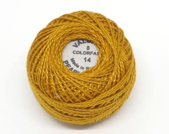 Valdani Pearl Cotton Thread Size 8 Solid: #14 Deep Rusty Orange