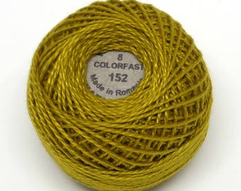 Valdani Pearl Cotton Thread Size 8 Solid: #152 Gold
