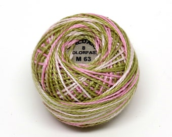 Valdani Pearl Cotton Thread Size 12 Variegated: #M63 Early Spring
