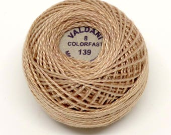 Valdani Pearl Cotton Thread Size 8 Solid: #139 Smoky Taupe