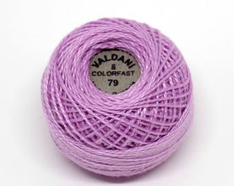 Valdani Pearl Cotton Thread Size 8 Solid: #79 Lavender Light