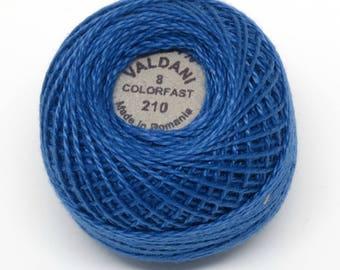 Valdani Pearl Cotton Thread Size 8 Solid: #210 Sapphire