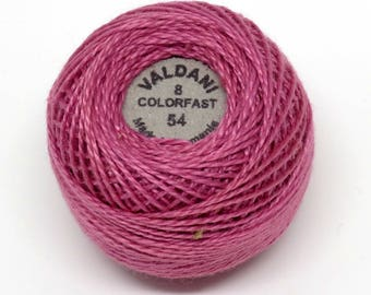 Valdani Pearl Cotton Thread Size 8 Solid: #54 Dusty Rose Medium