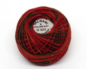 Valdani Pearl Cotton Thread Size 8 Variegated: #O523 Cherry Basket