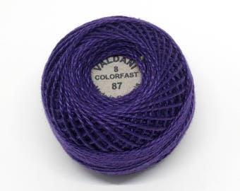 Valdani Pearl Cotton Thread Size 8 Solid: #87 Rich Purple