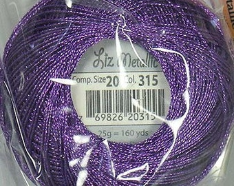 Lizbeth Metallic Thread: #315 Violet