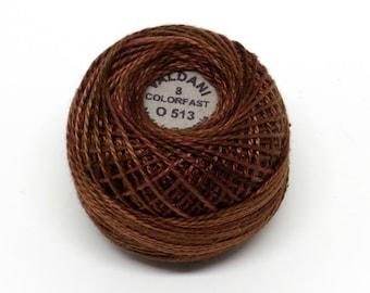 Valdani Pearl Cotton Thread Size 12 Variegated: #O513 Coffee Roast