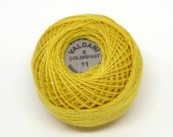 Valdani Pearl Cotton Thread Size 8 Solid: #11 Sunflower
