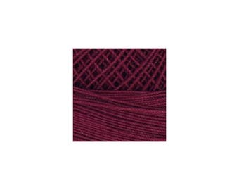 Lizbeth Thread Size 80 Solid: #672 Burgundy