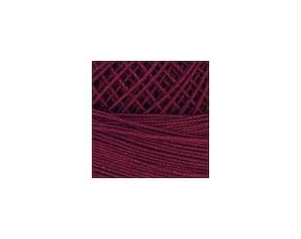 Lizbeth Thread Size 80 Solid: #672 Burgundy