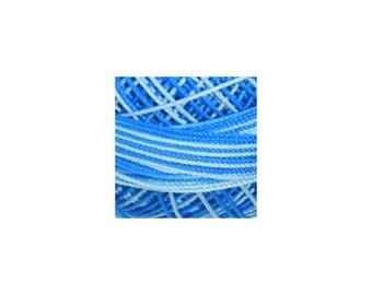 Lizbeth Thread Size 20 Variegated: #142 Turquoise Twist