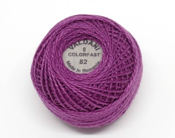 Valdani Pearl Cotton Thread Size 8 Solid: #82 Light Lilac