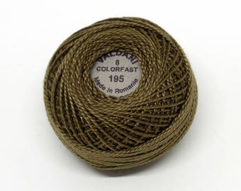 Valdani Pearl Cotton Thread Size 8 Solid: #195 Golden Olive