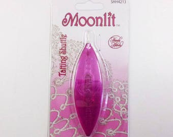 Moonlit Tatting Shuttle: Sparkle Pink