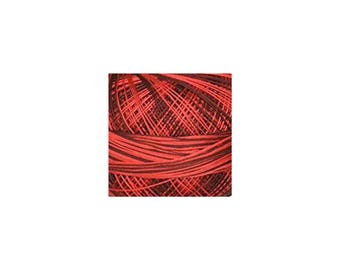 Lizbeth Thread Size 20 Variegated: #147 Red Burst