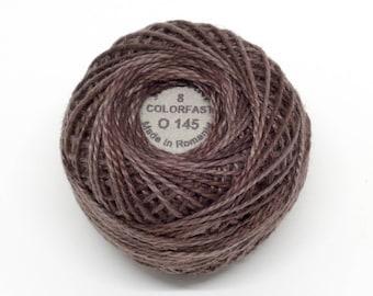 Valdani Pearl Cotton Thread Size 12 Variegated: #O145 Earth Shades