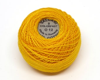 Valdani Pearl Cotton Thread Size 8 Variegated: #O12 Sunshine Glory
