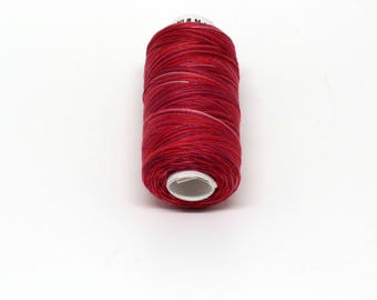 Valdani 60wt. Variegated Cotton Thread - #M43 Vibrant Reds