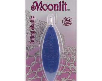 Moonlit Tatting Shuttle: Frosted Periwinkle