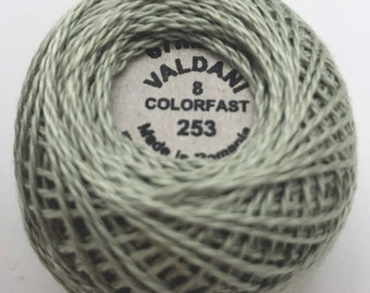 Valdani Pearl Cotton Thread Size 8 Solid: #253 Light Blue Gray