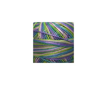 Lizbeth Thread Size 20 Variegated: #115 Springtime
