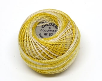 Valdani Pearl Cotton Thread Size 8 Variegated: #M67 Blurry Vanilla
