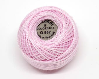 Valdani Pearl Cotton Thread Size 8 Variegated: #O557 Rose Suave