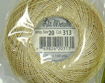 Lizbeth Metallic Thread: #313 Sand Dollar