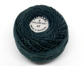 Valdani Pearl Cotton Thread Size 8 Solid: #41 Deep Forest Green