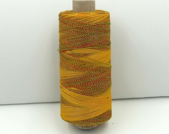 Valdani Unique Twist Overdyed Cotton-Polyester 40wt Thread: #T10 Sunny Meadow