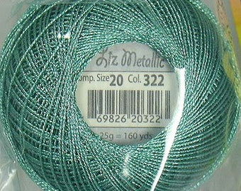 Lizbeth Metallic Thread: #322 Seafoam