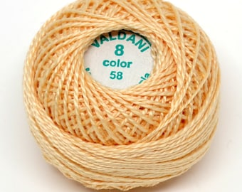 Valdani Pearl Cotton Thread Size 8 Solid: #58 Soft Banana