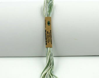 Valdani Hand-Dyed Cotton 6-Strand Embroidery Floss Skein: Variegated #M93 Silver Foam