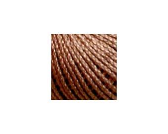 Lizbeth Thread Size 80 Solid: #691 Mocha Brown Medium