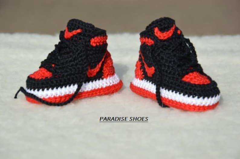 f32e9951ed45 Nike Air Jordan 1 Crochet Baby Booties