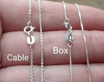 53798a19da325e Solid Sterling Silver Chain, 14