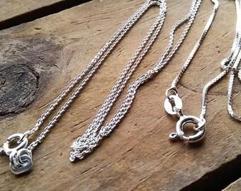 d49135137cbedb Sterling Silver Plain Chain, 14
