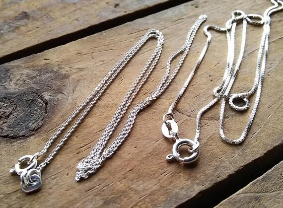 Geniune 925 Sterling Silver Rollo Chain